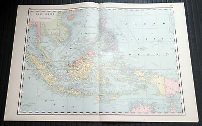 Crams Railway System Atlas Map East Indies Sumatra Java Palestine 1895