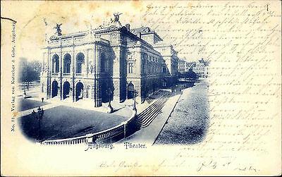 Augsburg Bayern AK 1900 Kennedyplatz Bauwerk Theater Stadttheater n/ Pforzheim
