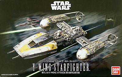 Bandai Star Wars Y-Wing Star Fighter (Starfighter) 1/72 scale kit 966940