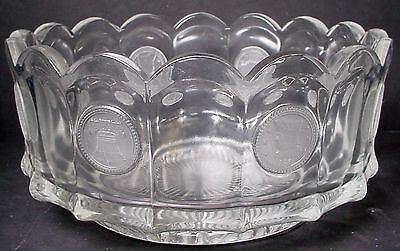 "FOSTORIA crystal COIN GLASS CLEAR pattern ROUND Bowl NAPPY 4-1/8""  Piece 459"