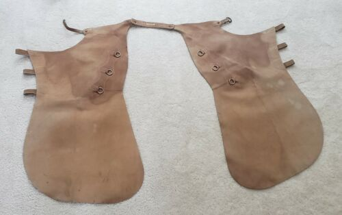 "Leather Cowboy Chaps by Capriola Co. Elko Nevada USED ""Randy"""