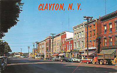 CLAYTON, NY ~ RIVERSIDE DRIVE, AUTOS & STORES ~ used (Riverside Stores)