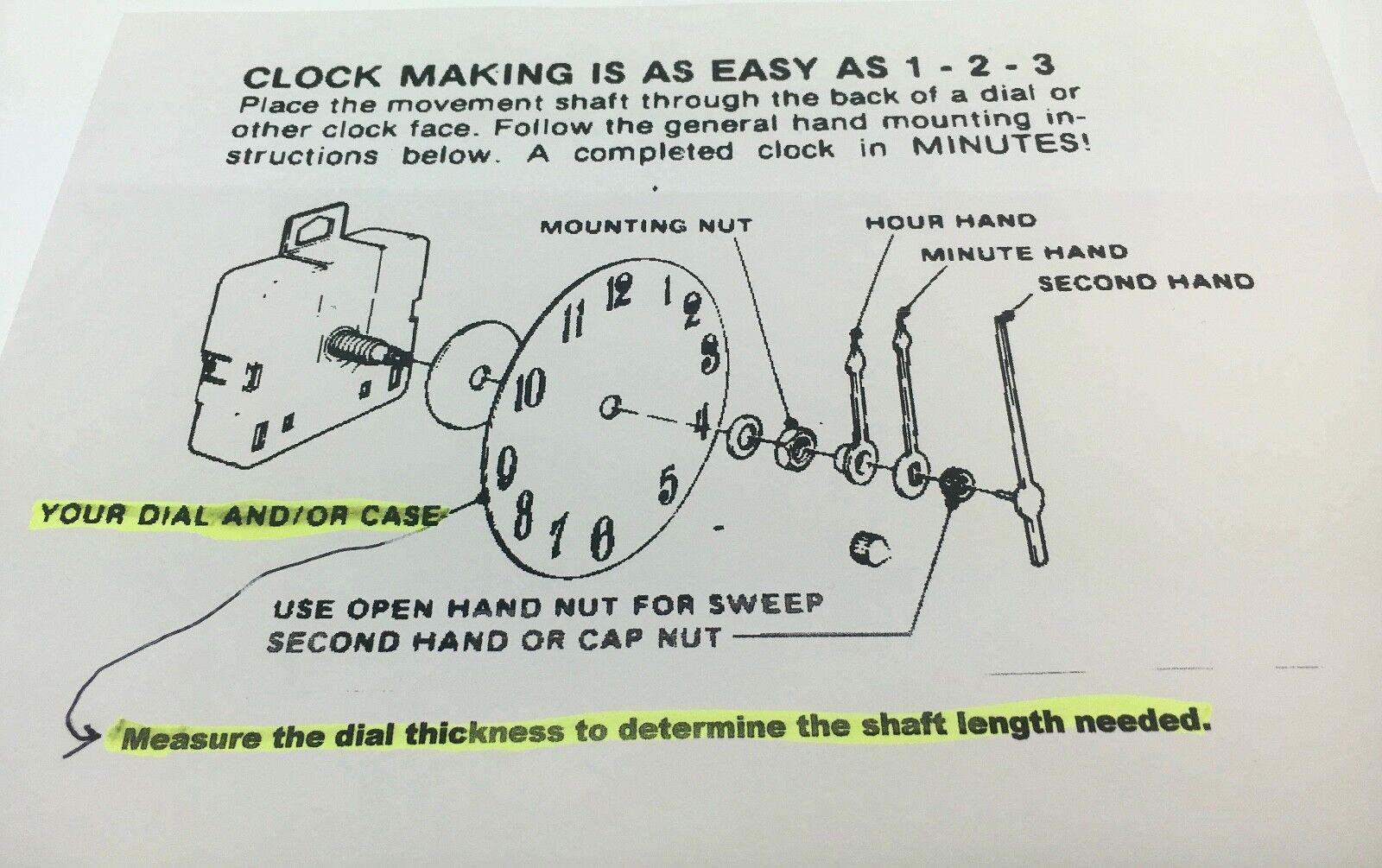 Takane Quartz Battery Clock Movement with Hands 3/4