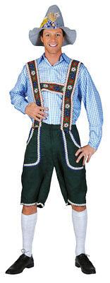 Oktoberfest Hemd Kostüm Trachten blau weiss kariert Herren Bayernhemd Tirol - Herr Oktoberfest Kostüm