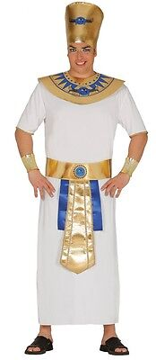 Mens 4 Piece Egyptian Pharaoh Historical Fancy Dress Costume Outfit
