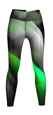 ehnbar für Sport, Gymnastik,Training & Freizeit schwarz/grün (Grüne Leggings Für Damen)