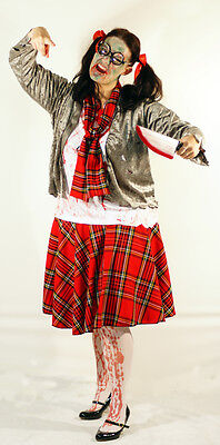 Halloween/Horror ZOMBIE SCHOOLGIRL Fancy Dress Costume- All Ladies Sizes