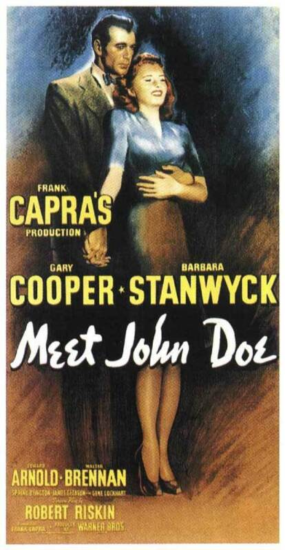 MEET JOHN DOE Movie POSTER 14x36 Insert Gary Cooper Barbara Stanwyck Edward