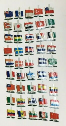 1959 NABISCO CEREAL PREMIUM UNITED NATIONS WORLDWIDE METAL FLAG WHOLESALE LOT