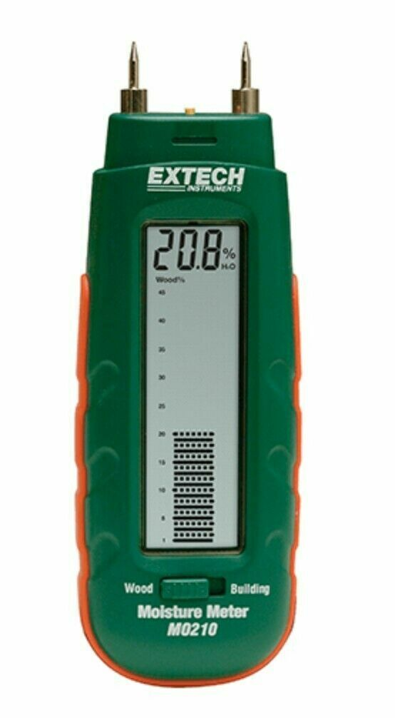EXTECH MO210 Moisture Meter -  Pocket Size - Carper + Wood +