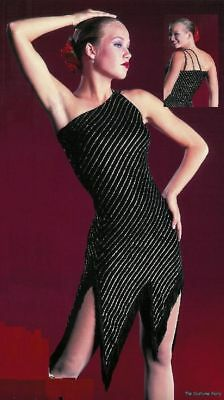 All That Jazz Dance Costume Tango Salsa - Dress ONLY - Adult Medium - All That Jazz Costumes