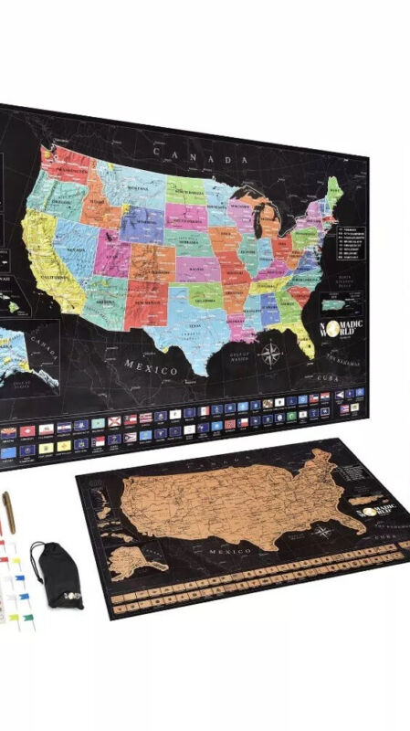 USA Scratch Off Map - Travel Gift