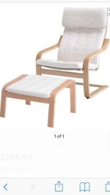 Ikea Poang Chair and Footstool. Like new. RRP £105
