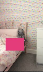 Pink Heart Single Bed Frame