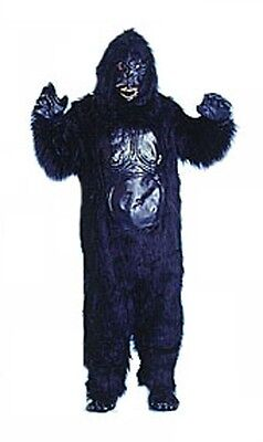 Black Gorilla Suit Furry Animal Mascot Deluxe Dress Up Halloween Adult Costume - Gorilla Suit Halloween