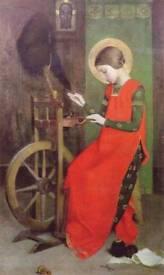Antique Ashford cotton spinning wheel