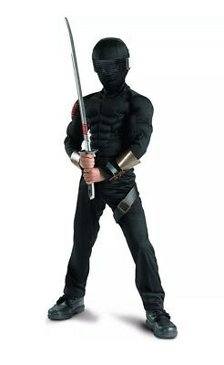 NWT GI jOE The Rise Of Cobra Snake Eyes Classic Muscle Halloween Costume S - Cobra Gi Joe Kostüm