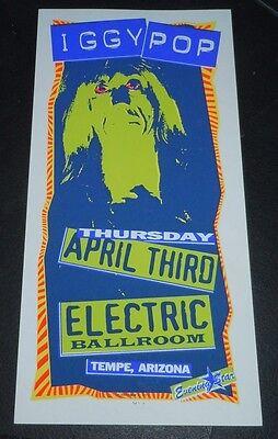Iggy Pop Electric Ballroom Original Concert Tour Mini Poster