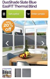 Easy fit modern up and down blinds, ordered incorrect sizes in error
