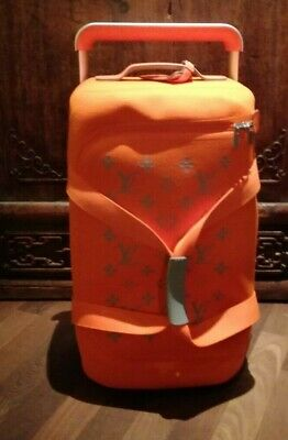 Rolling Luggage (Louis Vuitton Horizon Soft 55 Reise-Trolly Rolling Luggage orange)