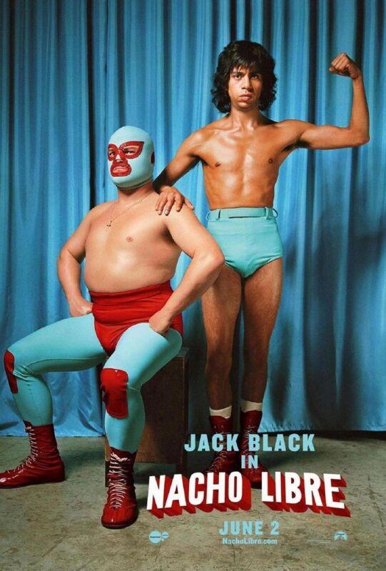 Nacho Libre Movie Poster 2 Sided Original Duo 27x40 Jack Black Hector Jimenez