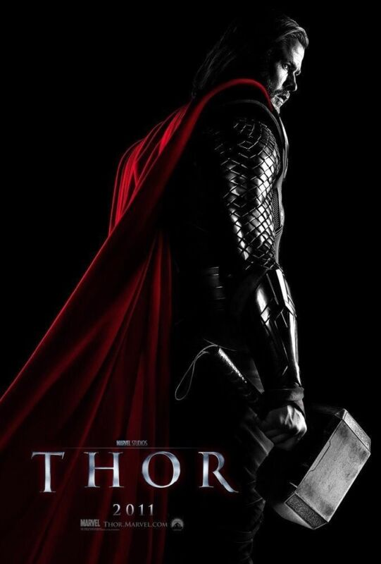 Thor Movie Poster 2 Sided Original Advance 27x40 Chris Hemsworth