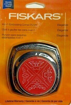 Fiskars 4-in-1 Embossing Corner Punch ELEGANCE Cuts and Embosses! Scrapbook  NIP Scrapbooking Corner Punches