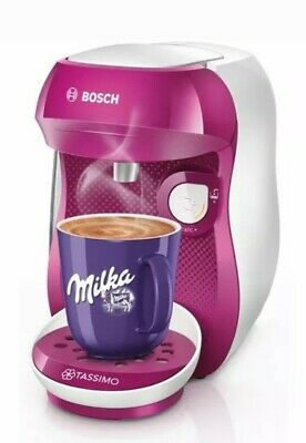 Bosch TASSIMO Happy TAS1001GB Coffee Machine Purple&White NEW OPEN BOX EU PLUG
