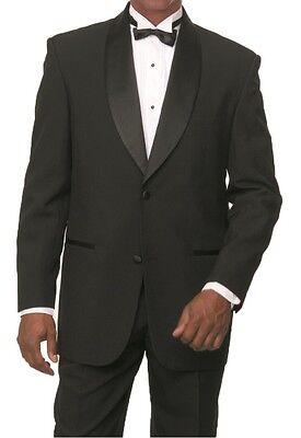 Men's Fashionable Shawl Lapel 2-Button Tuxedo Suit with Pants Black T822 ()
