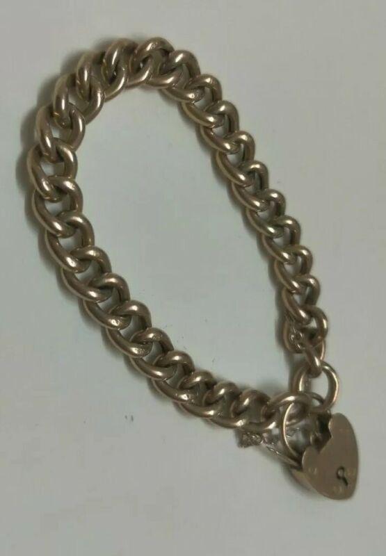 Victorian 9K Antique Gold Bracelet w Heart Locket Locker