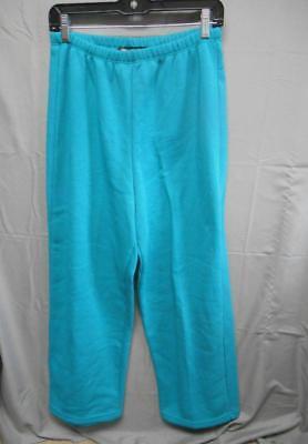 NWT Zena Sport blue sweat pants open leg bottom women's size medium Womens Open Bottom Sweatpants