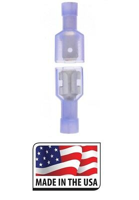 50 FEMALE CONNECTOR USA 100 X BLUE FULLY INSULATED QUICK DISCONNECT 50 MALE