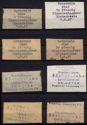 [11465] - 1947! NOTGELD ELMSCHENHAGEN, BÜCHERSTUBE, 5 - 30 Pf, 01.08.1947. Ungeb