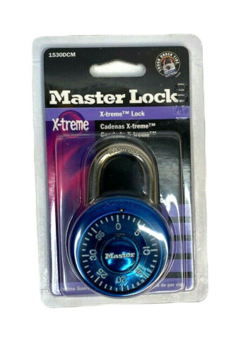 Master Lock X-treme Combination Lock - 1530DCM - NIP - Blue
