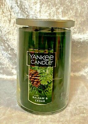 Yankee Candle 22oz Round Jar Balsam & Cedar - NEW