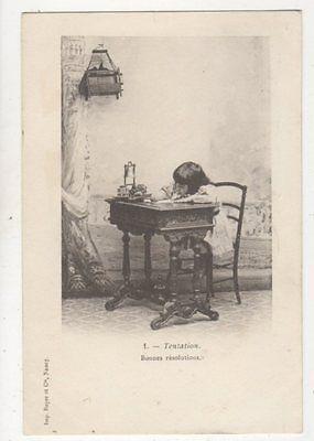 Tentation [1] Children France 1902 U/B Postcard 880a