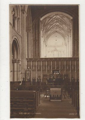 In Christchurch Priory Vintage Postcard 581a