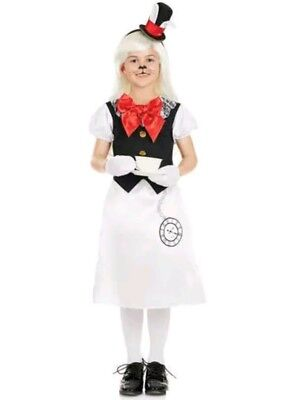 Female White Rabbit Costume (Girls White Rabbit Fancy Dress Costume age 10-12 XL Book Day Alice)