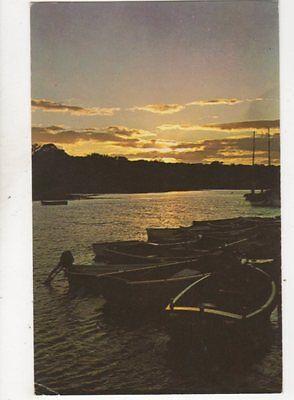 Sunset Bucklers Hard Beaulieu River 1971 Postcard 237b