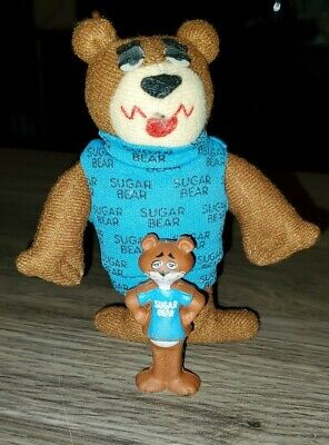 Sugar Bear Golden Crisp Cereal Premium Mini PVC Toy Figure POST 1988