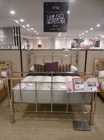Super King Size Bed Frame + Super King Size Rochester BackCare Mattress