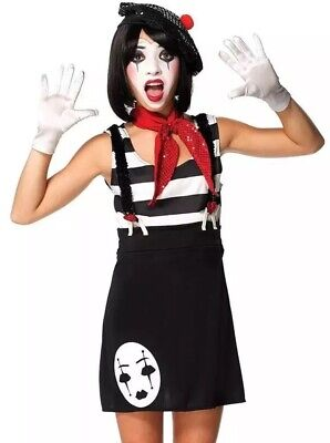 Leg Avenue Miss Mime Dress Up Halloween Teen Small-Medium Costume NEW