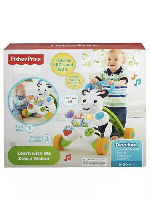 Fisher Learn With Me Zebra Walker Toys for Babys Boys and Girls