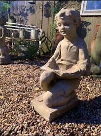 Garden statue, bird bath/feeder, lovely
