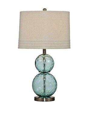 Used, Bassett Co. Barika Coastal Table Lamp Blue L2522TEC for sale  Clovis