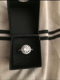 NEW Warren James Cubic Zirconia Cluster Ring