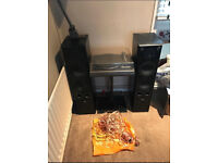 Dual 505 Belt Drive Record Player with Stand + 3x Eltax Symphony 8.2 speakers & cables