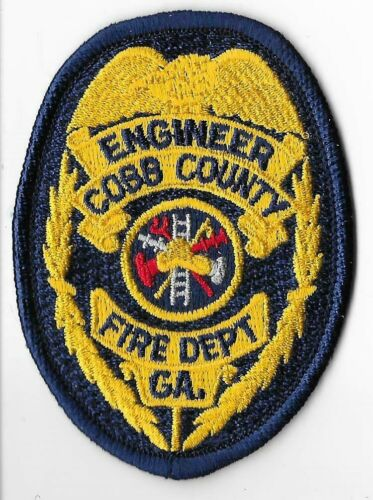 Cobb County Fire Department, Georgia Engineer Breast Patch