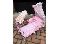 Kids toy bouncer and cot