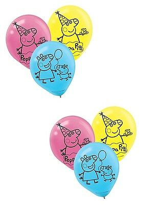 (6ct) Peppa Pig Birthday Characters 12